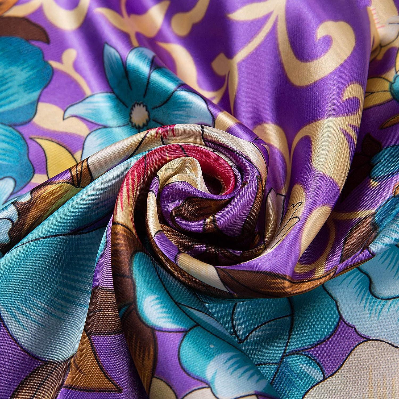 ALBERTO CABALE Seta Sciarpa Donne Moda Leggero Morbido Confortevole Protezione Solare Elastico Scialli per Testa e Collo