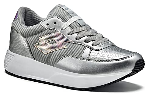 Lotto, Scarpe da Camminata Donna, Argento (Silver Metal/Grey ...