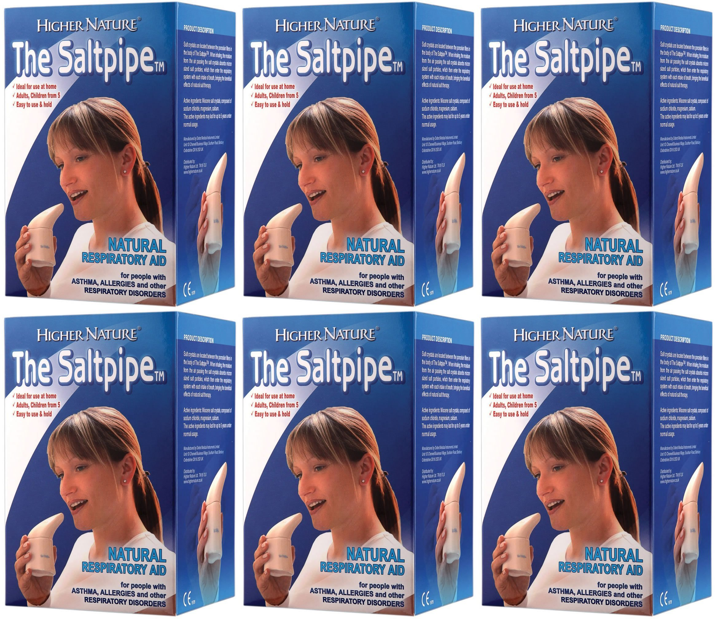 (6 PACK) - Higher Nature - Saltpipe | 1 box | 6 PACK BUNDLE by Higher Nature