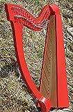 Arpa celtica irlandese con 27 corde rosse con borsa