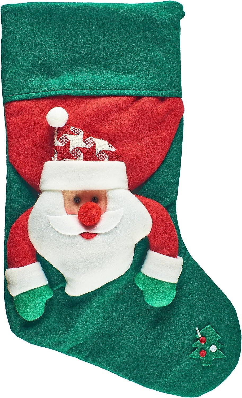 "Prextex Extra Large 17/"" 3D Plush Christmas Stockings Felt Christmas Stocking"