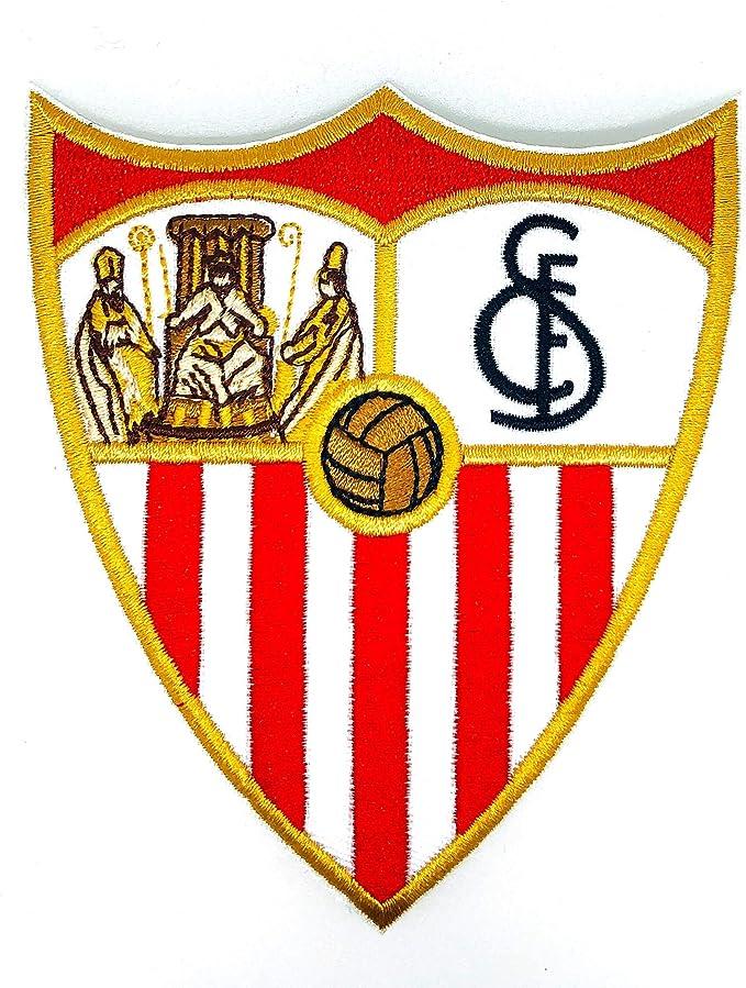 Gemelolandia Parche Bordado Termoadhesivo Escudo del Sevilla FC 11x9cm: Amazon.es: Ropa y accesorios