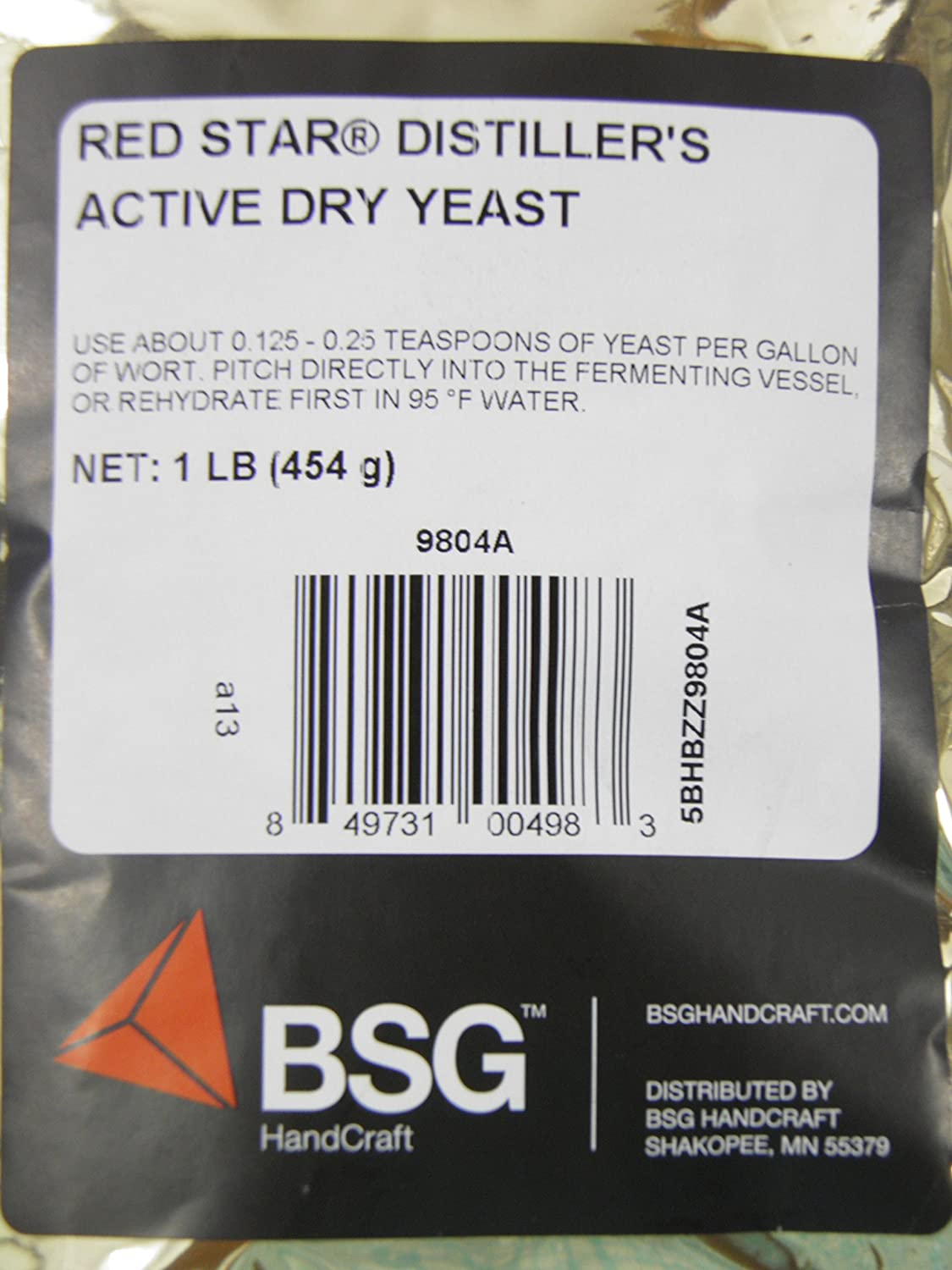 Amazon.com: Distillers Active Dry Yeast - Red Star DADY 1 lb pack: Kitchen & Dining