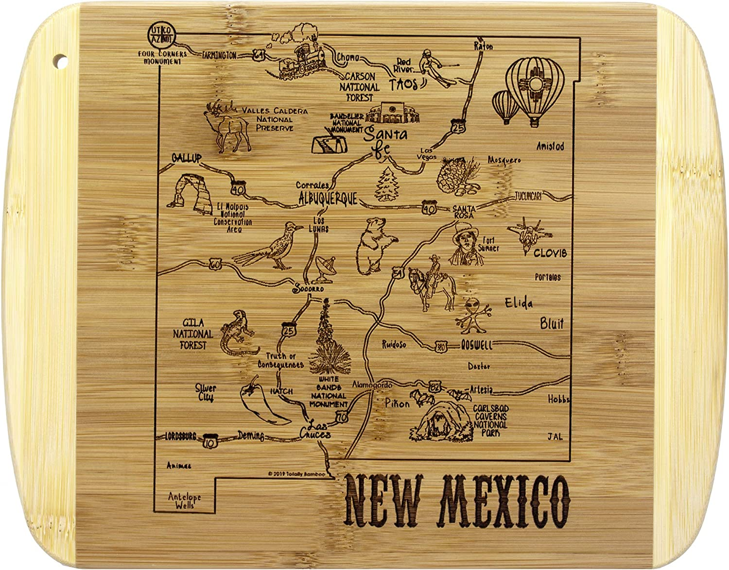 Totally Bamboo A Slice of Life New Mexico Bamboo Serving and Cutting Board