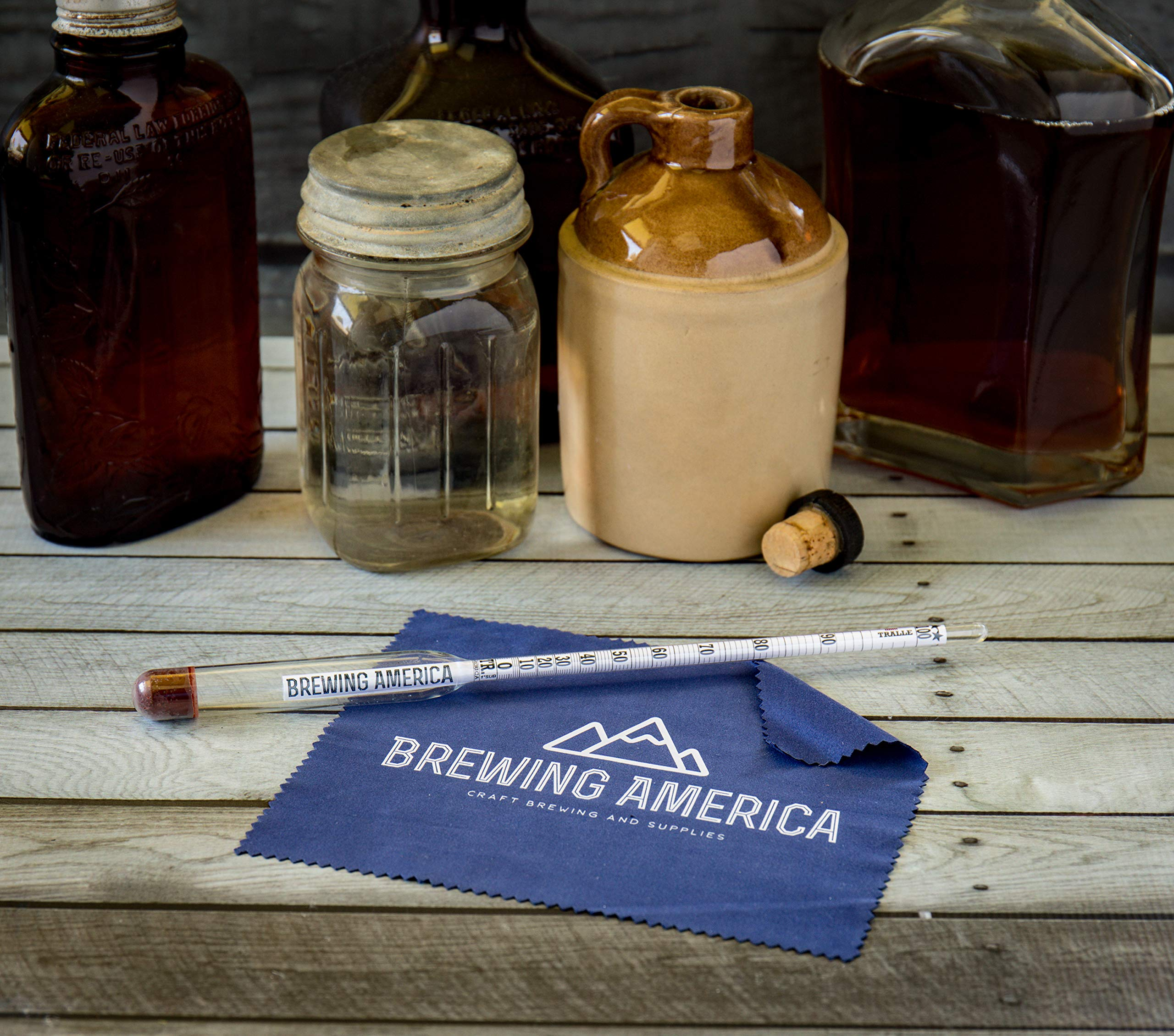 American-Made Alcohol Hydrometer Tester 0-200 Proof & Tralle Pro Series Traceable - Distilling Moonshine Alcoholmeter by Brewing America (Image #9)