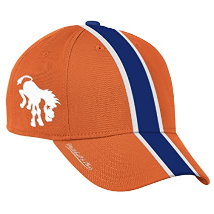 Denver Broncos Authentic Mitchell & Ness Retro Bucking Horse Logo Helmet Hat