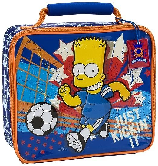 Bolsa para el almuerzo Bart Simpsons de balón de fútbol: Amazon.es ...