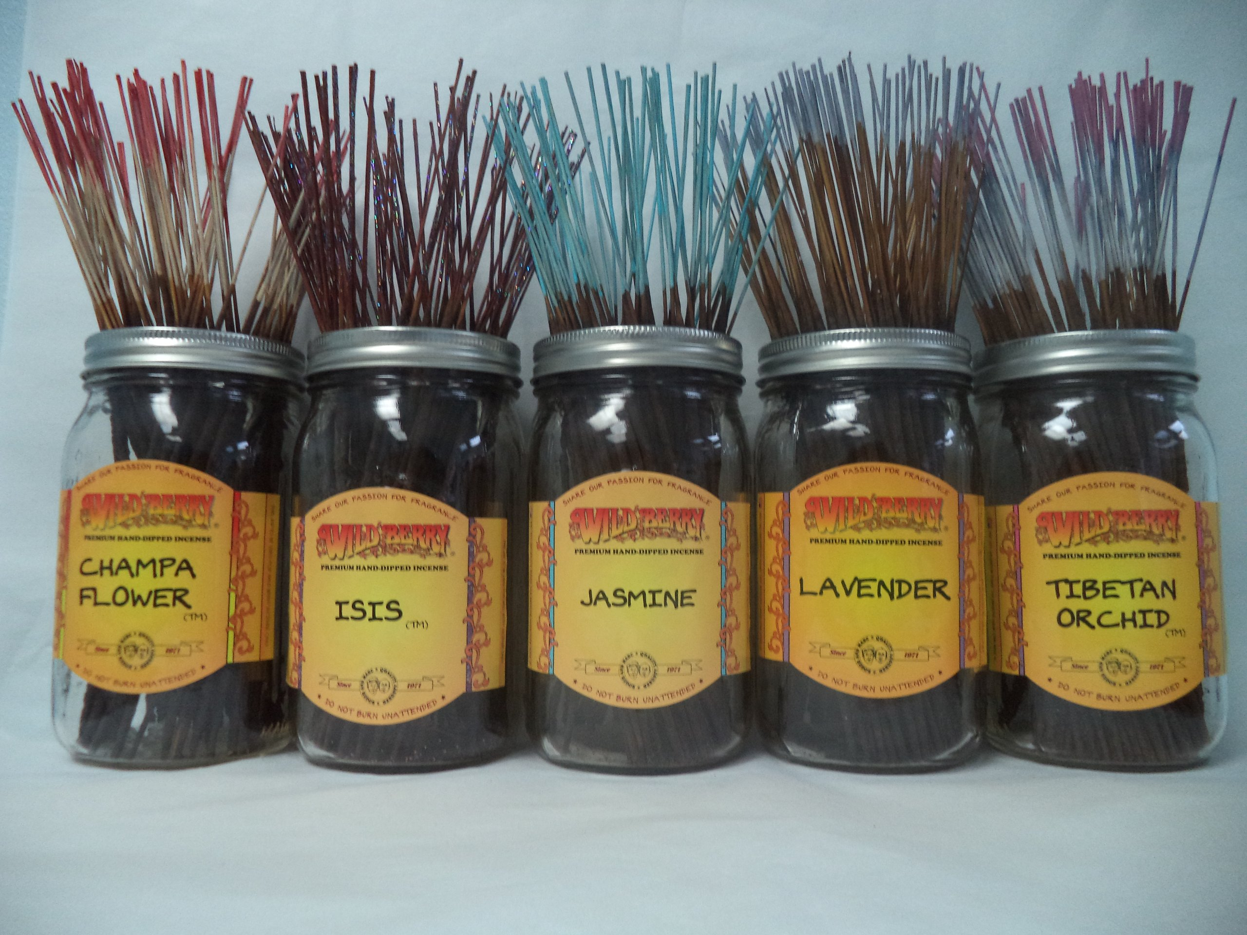 Wildberry Incense Sticks Florals & Greens Scents Set #1: 20 Sticks Each of 5 Scents, Total 100 Sticks!