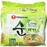 Nong Shim Instantnudeln Soon Veggie Ramyun – Koreanische Gemüse Ramen Suppe mild - schnelle Zubereitung – 2 x 5er Vorteilspack à 560g