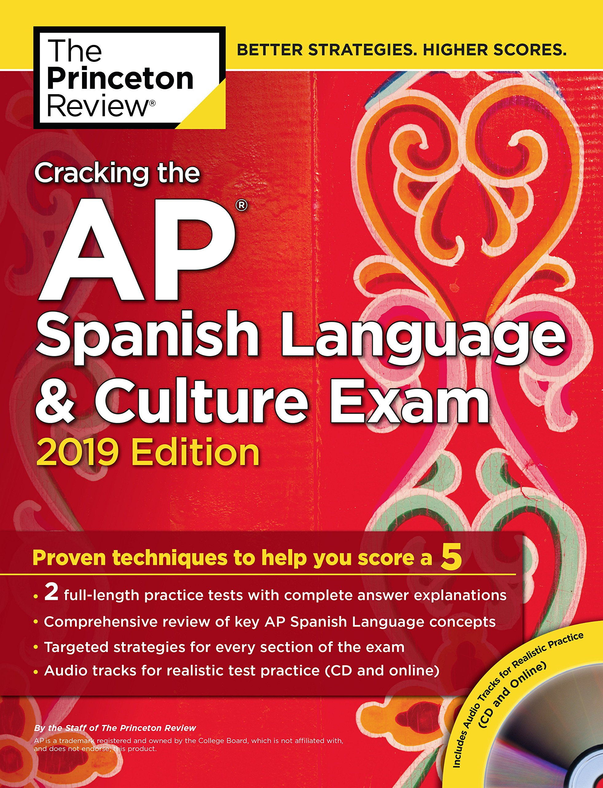 Amazon.com: Cracking the AP Spanish Language & Culture Exam with Audio CD,  2019 Edition: Practice Tests & Proven Techniques to Help You Score a 5  (College ...
