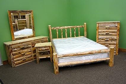 Amazon.com: Midwest Log Furniture - Rustic Log Bedroom Suite ...