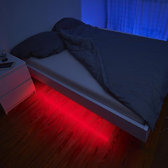 LED Beleuchtungsset RGB + WEISS mit Bewegungsmelder Unterbauleuchte ...