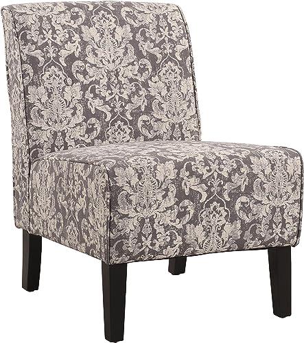 Linon Coco Accent Chair, Gray Damask