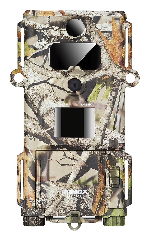 MINOX DTC 450 Slim Wild- und Überwachungskamera Camouflage – Extrem kompakte und Flache Tier-Beobachtungskamera – Bis zu 12MP Bildaufnahmen, HD-Videoaufnahmen, Display-Bildwiedergabe 60725