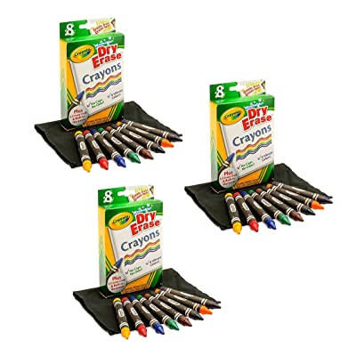 3 Pack of 8 Crayola Dry-Erase Crayons bundled by Maven Gifts: Toys & Games