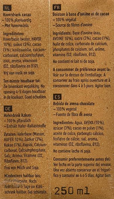 Oatly Bebida Avena con Chocolate - 250 ml - [Pack de 9]: Amazon.es: Alimentación y bebidas