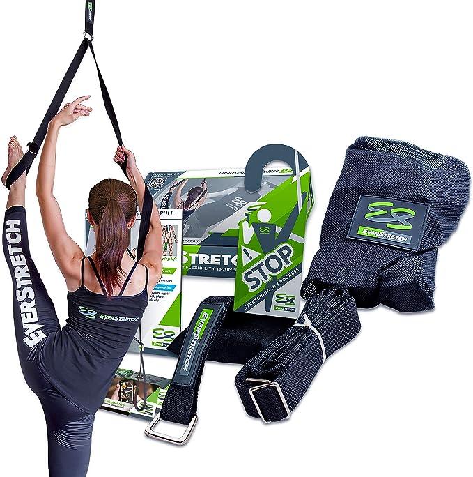 EverStretch Stretching Piernas: Más Flexible con el Entrenador de flexibilidad para Puertas, Equipo Estiramiento Pro para Ballet, Danza, MMA, ...