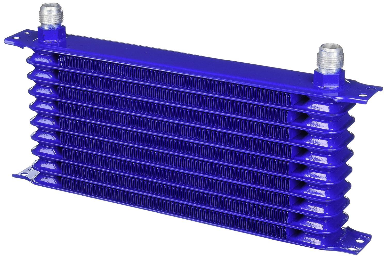 Spec-D Tuning OCL-10RW10BLU 10-Row 10 An Blue Powder-Coated Aluminum Engine/Transmission Racing Oil Cooler