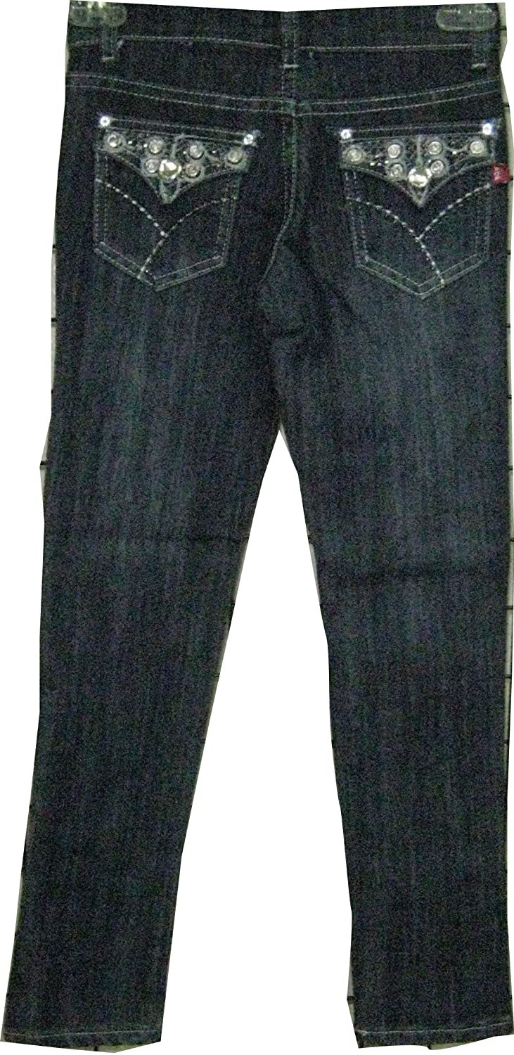 Skinny Cut Girls Size 8 Stretchable Denim 5 Pockets Embroidered Jeans One Unit Pack $18.99