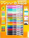 Pilot Juice Gel Ink Ballpoint Pen Fine point 0.5 mm 16 Assorted Color, 18 Pack (3/Black ink)