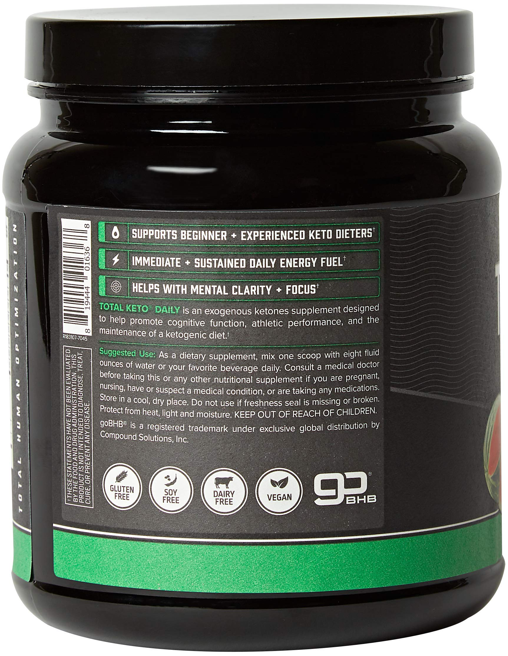 ONNIT Total Keto | Exogenous Ketones Supplement for Low Carb Diet | Premium Value Keto Supplement at 300g Ketone per Tub | Perfect Keto Fuel for Keto Shakes | Watermelon Flavor | 30 Servings by ONNIT (Image #3)