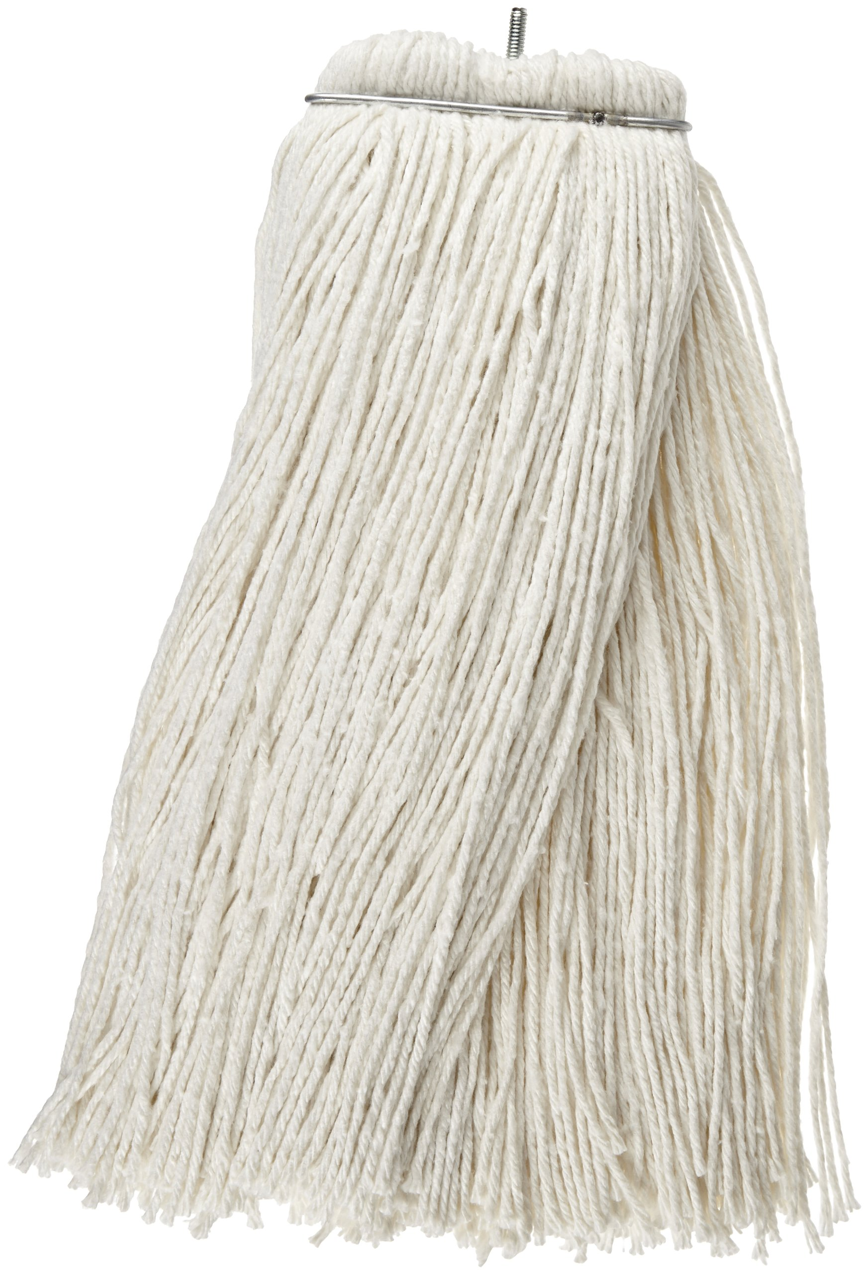 Impact 61124 Layflat Screw-Type Regular Cut-End Rayon Wet Mop Head, 24 oz, White (Case of 12) by Impact Products (Image #1)