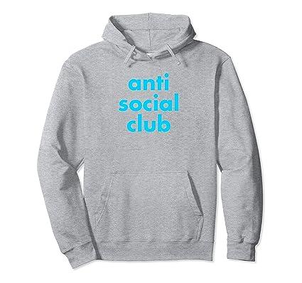 e0580daf0f15 Amazon.com  Anti Social Club Funny Pullover Hoodie  Clothing