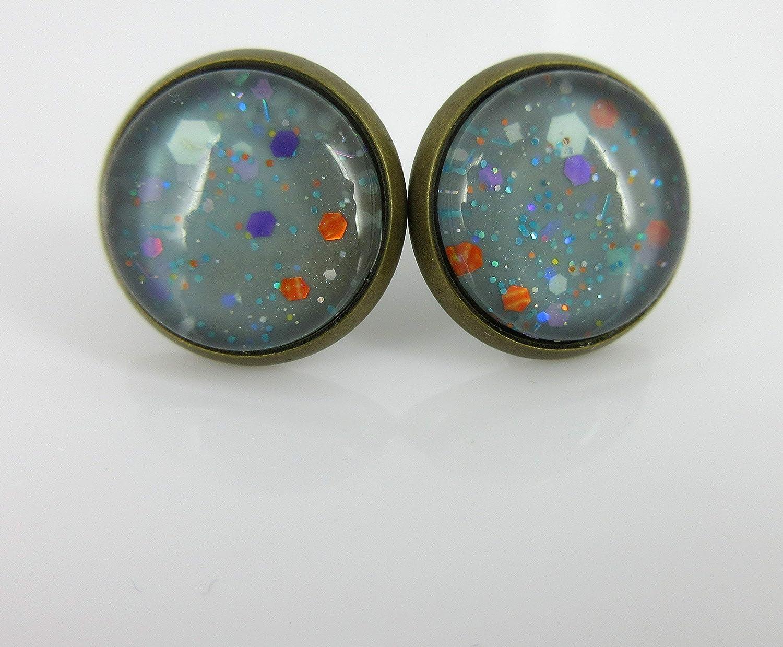 Blue Earrings Druzy Earrings Glitter Earrings Blue Hues Trio Earrings