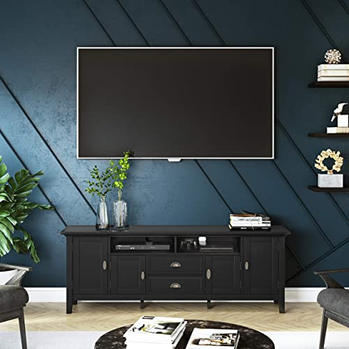 SIMPLIHOME Redmond SOLID WOOD Universal TV Media Stand