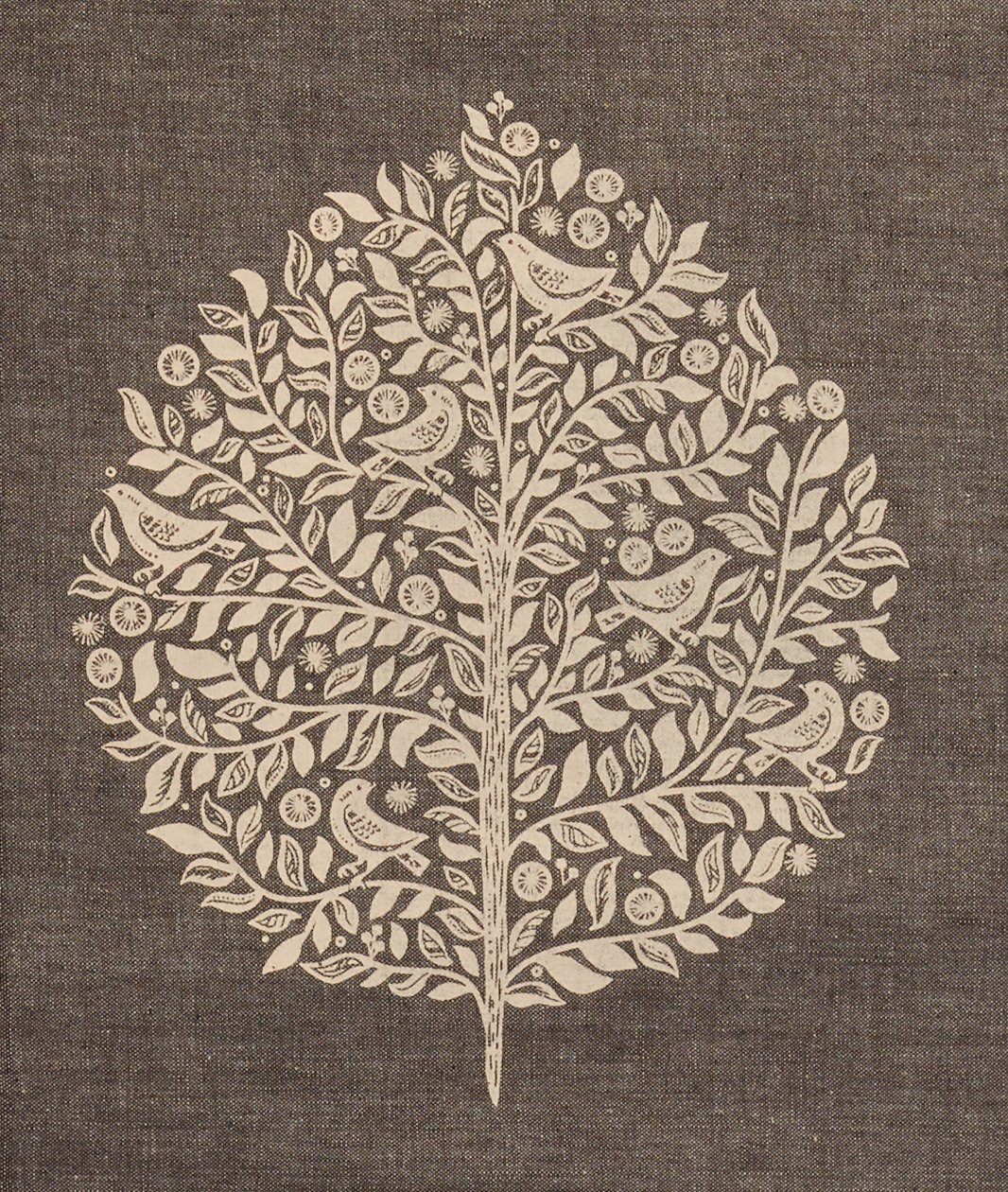 Elmwood Grey Print 1745039 Now Designs 60 by 120 inch Cotton Tablecloth
