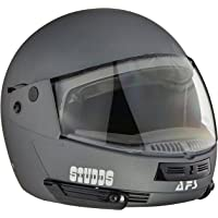 Studds Full Face Helmet Ninja Pastel (Plain Matt Gun Grey, M)
