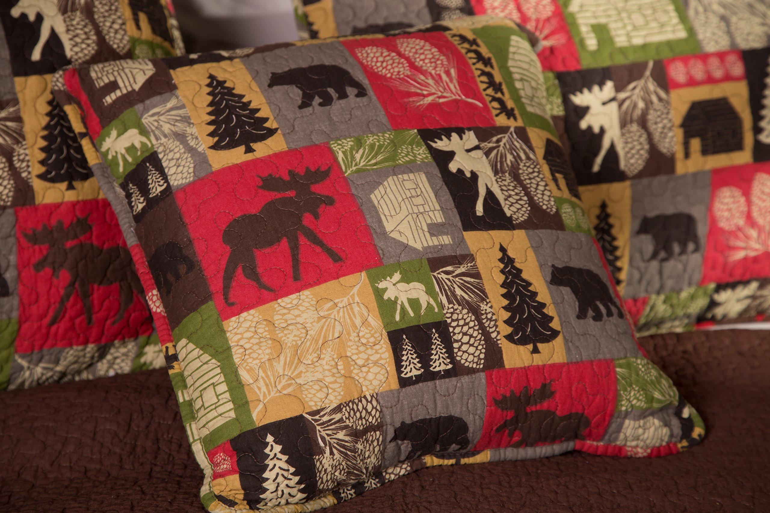 Carstens Cabin in The Woods 5 Piece Cotton Printed Quilt Bedding Set, Queen by Carstens (Image #5)