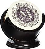 Thirstystone TSMM-H13 4 Piece Monogram Coaster Set with Pedestal Holder, Multicolor