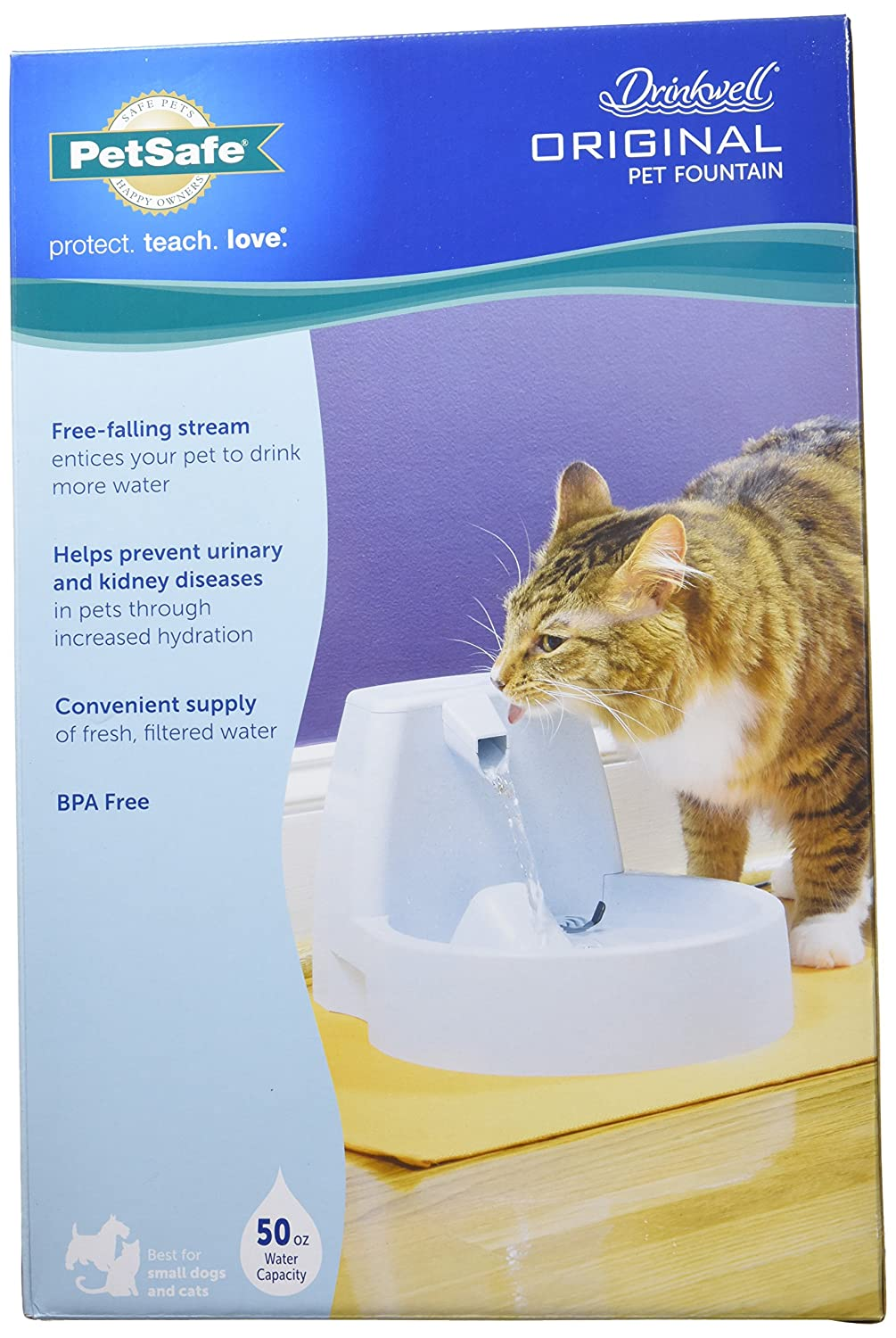 Amazoncom PetSafe Drinkwell Original Dog And Cat Water Fountain - Cat and dog duo take the best travel photos ever