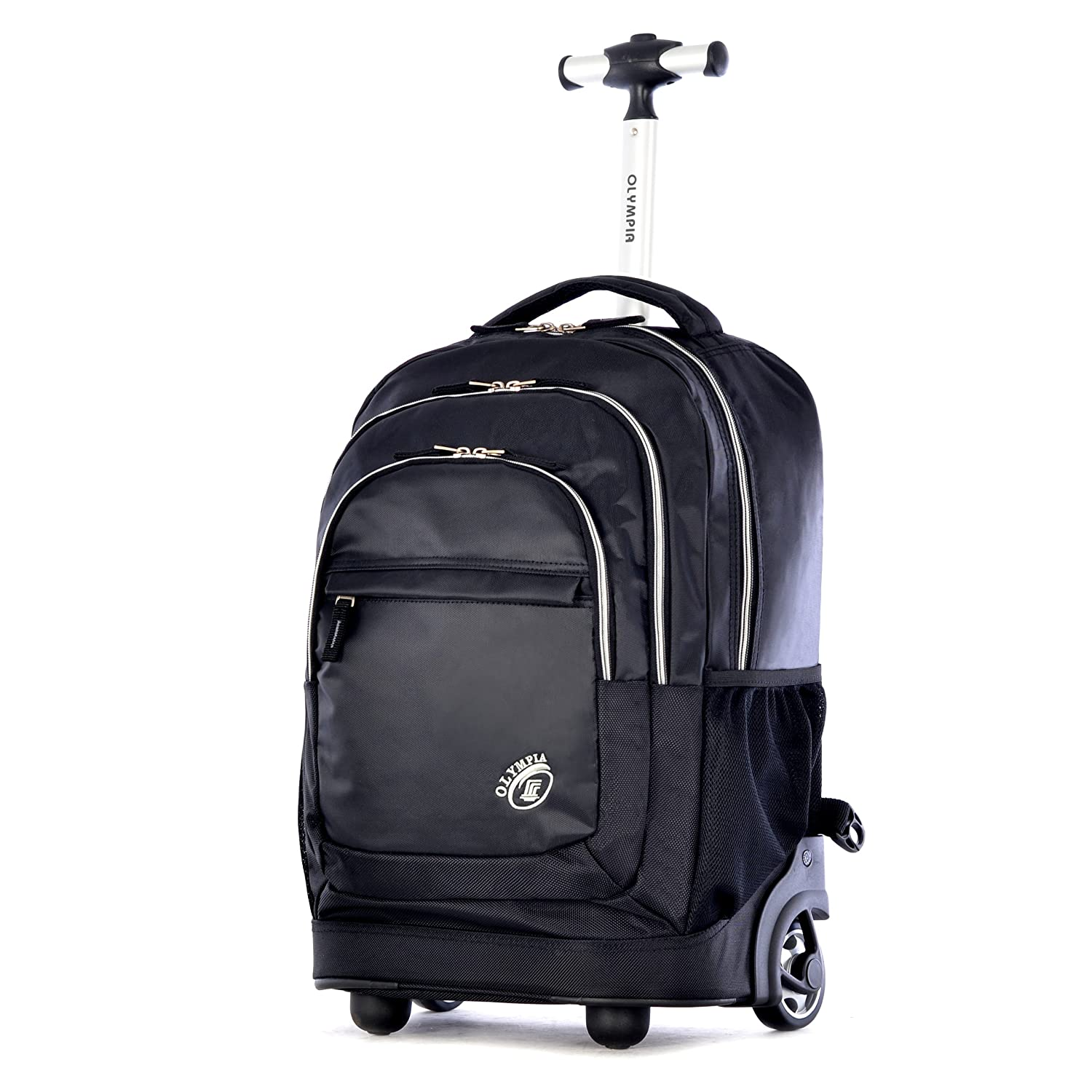 Amazon.com | Olympia Gen-X 19 Inch Rolling Backpack, Black, One ...