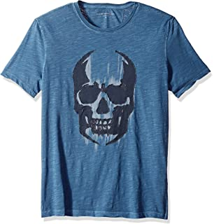 Blk Brawlers//Knock Out Graphic Crew T-Shirt John Varvatos Star USA Men/'s N.Y