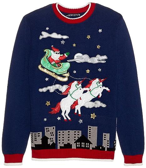 Blizzard Bay Mens Santa Suit Unicorn Ugly Christmas Sweater