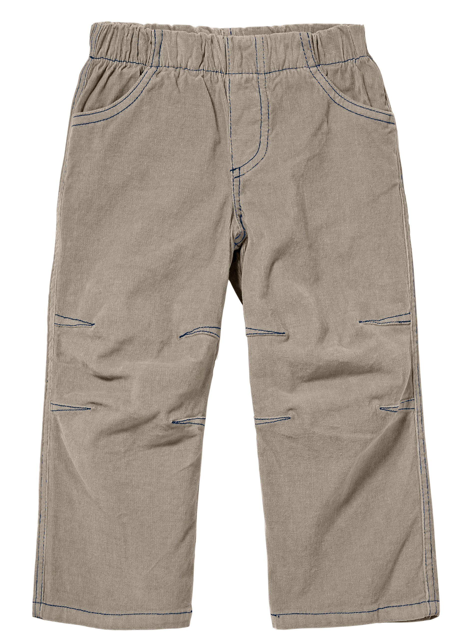 City Threads Boys' Corduroy Pull-Up Pants for School or Play; Comfortable for Active Children Toddler Warm Cords for Sensitive Skin or SPD Clothing - Dark Khaki - 6 by City Threads