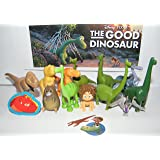 Disney Pixar The Good Dinosaur Movie Deluxe Figure Set of 14 Toy Kit with Figures, Tattoo Sheet, ToyRing Featuring Arlo, Caveboy Spot, T-Rexes and Much More!