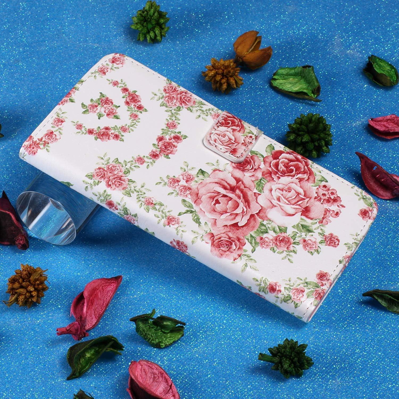 Uposao Kompatibel mit Samsung Galaxy S9 Handyh/ülle Handytasche Retro Bunt Muster Schutzh/ülle Flip Case Brieftasche Klapph/ülle Wallet Leder H/ülle Cover Tasche,Lila Schmetterling
