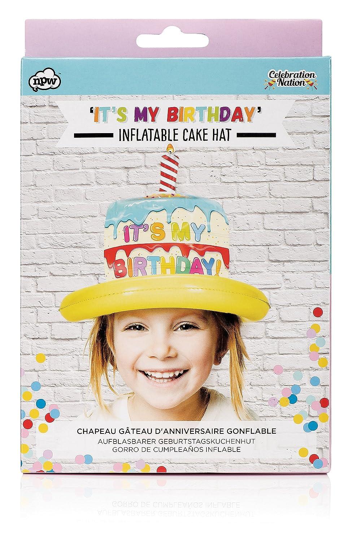 NPW - tarta de cumpleaños gorro de fiesta - hinchable gorro de ...