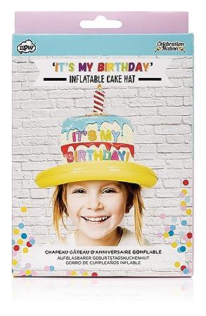 NPW - tarta de cumpleaños gorro de fiesta - hinchable gorro ...