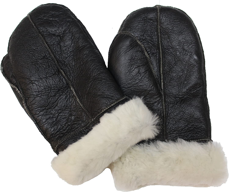 Infinity Unisex Weich Dick 100/% Schaffell Handschuhe Mit Sahneem Fell