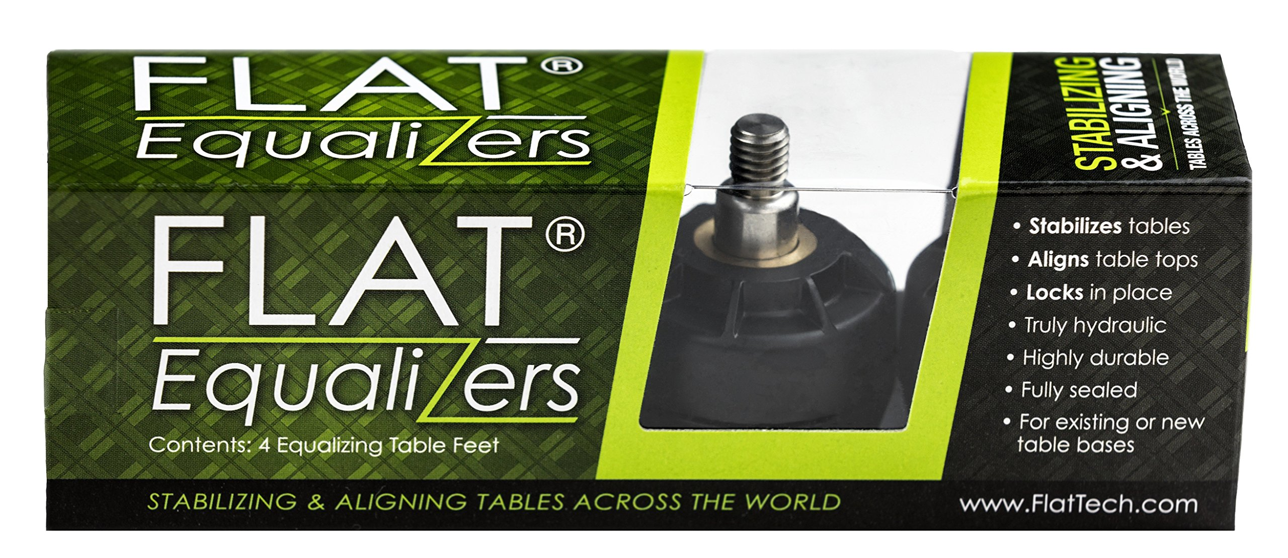 FLAT Equalizers (Stabilizing Table Feet) - 1/4'' -20 Thread size