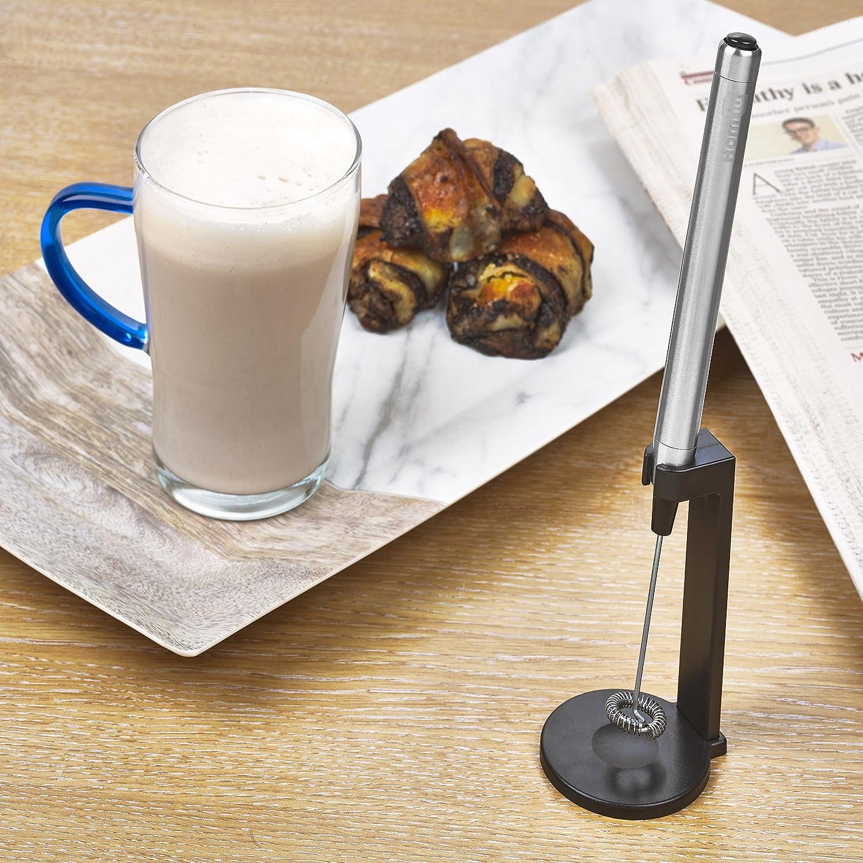 Homiu - batidor eléctrico de mano para café con espuma, potente varita de espuma, para hacer espuma de leche, mejor mezclador de leche de soja: Amazon.es: ...