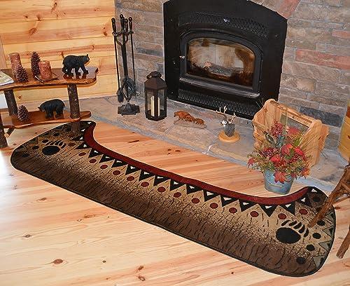 Rug Empire Cabin Canoe Bear Runner Area Rug, 2 8 W x 7 7 L