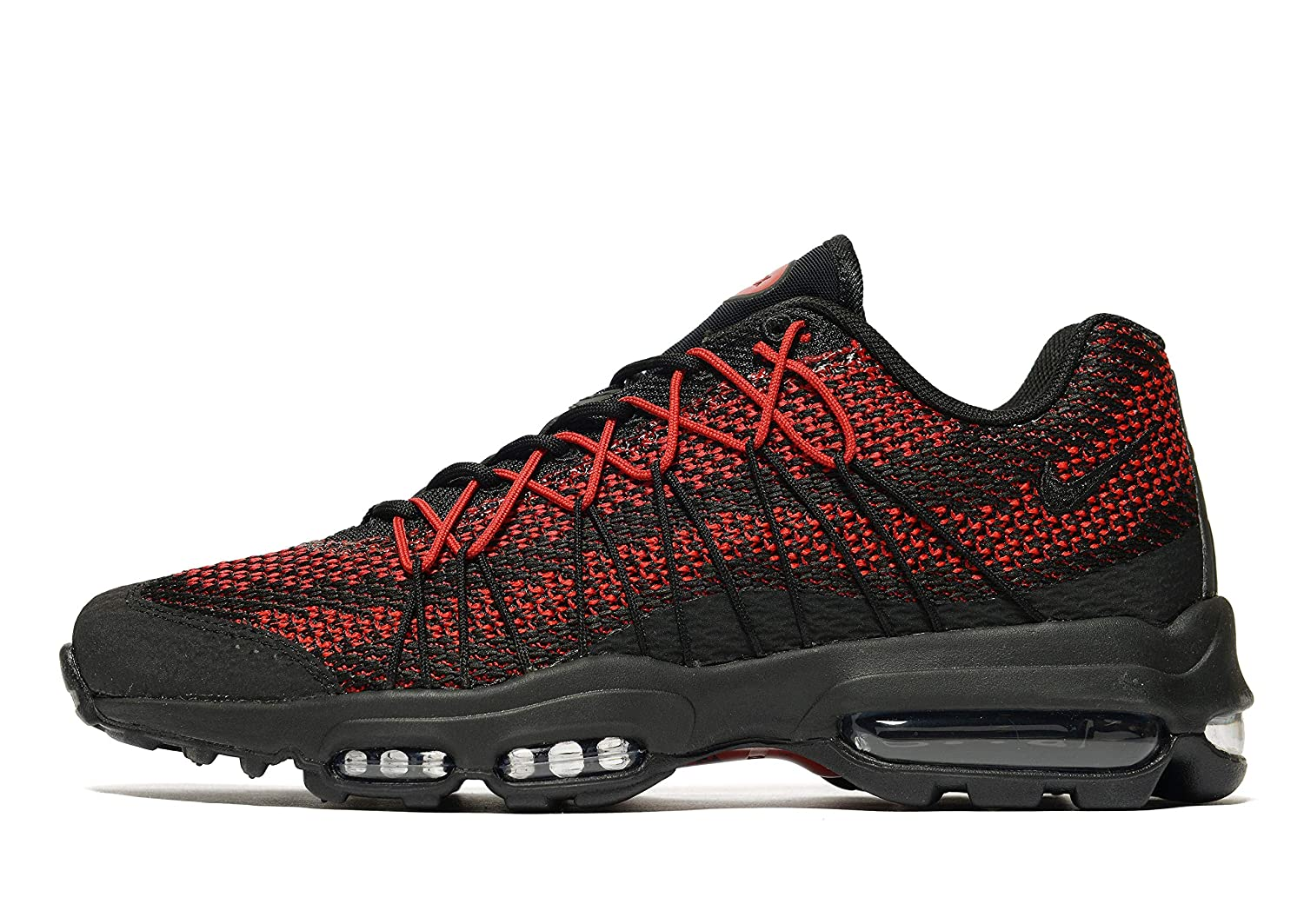 finest selection ca765 8c236 Nike Men s Air Max 95 Ultra JCRD Men s Trainers Size UK 11.5 EUR 47 Black Red   Amazon.co.uk  Shoes   Bags