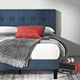 ZINUS Omkaram Upholstered Platform Bed Frame / Mattress Foundation / Wood Slat Support / No Box Spring Needed / Easy Assembly