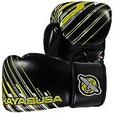 Hayabusa Ikusa Charged Gloves, Black/Lime Green, 14 oz