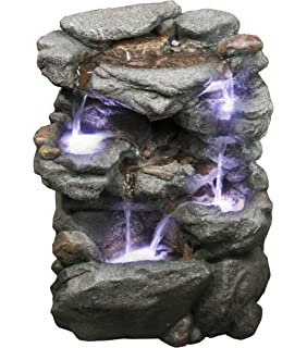 Genial Virginia Rock Water Fountain   Stunning Garden Fountain With Cascading  Pools And LED Lights. Soothing